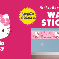Border Wall Sticker KTBWS005 Hello Kitty Dinding Border Wall Sticker K