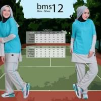 Baju olahraga muslim setelan olahraga muslim believe bms 12 ORI