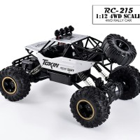 Mainan RC Mobil Rock Crawler 1:12 Off Road 2.4GHz 4WD - SILVER