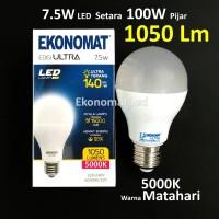 Lampu LED Ekonomat ULTRA 1050 Lm 7,5W 5000K Warna Matahari Bohlam