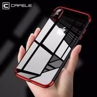 Soft Case CAFELE ORIGINAL iPhone X TPU Plating Transparan Colorful