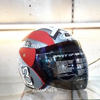 Helm GM Evolution Original - Gambar Tazmania Merah Doff