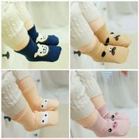 2 pasang kaus kaki bayi 3D korea anti slip carakter animal