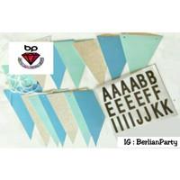Banner flag HBD / Bunting flag custom Do it yourself