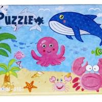 Puzzle Kayu Jigsaw Mix 4 in 1 Tepak Kaleng Mainan Anak Ocean PL-107