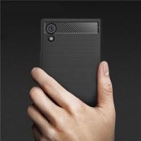 Case Sony Xperia XA1 Carbon Fiber Casing Softcase Sony Xperia XA1 - Hitam