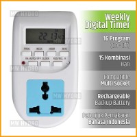 Programmable Digital Timer Switch - Stop Kontak - 16 Program On/Off