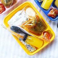 Mika Bento Sekat 4 Kuning/Tray Bento/Box Bento/Food Container