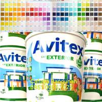 AVITEX Cat Tembok EXTERIOR Luar Galon Kaleng 5Kg 5 Kg Tinting Warna