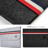 Softcase Laptop Sleeve Felt Tas Macbook Pro Air Notebook 11 12 13 Inch
