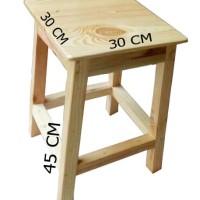 Kursi baksi Dingklik kayu Jati belanda 30x30x45cm