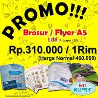PROMO!!!!!! Cetak Brosur / Flyer A5 1 Sisi Art Paper 120gr 1rim