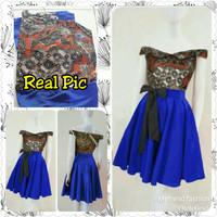 Dress Sabrina Batik Combi Twis Blue