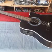 Gitar yamaha jumbo akustik elektrik string