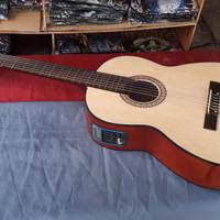 Gitar nilon yamaha elektrik 6 senar tuner lc prener