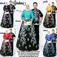 Baju Batik Couple Gamis Batik Gardena Rok panjang Hem Kemeja Cowok