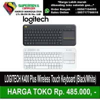 LOGITECH K400 Plus Wireless Touch Keyboard (Black/White)