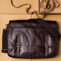 Fossil Defender Messenger Man Dark Brown - tas laptop