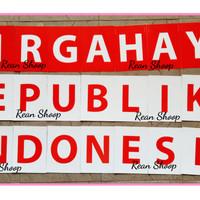 Banner bunting flag dirgahayu kemerdekaan hut ri republik indonesia
