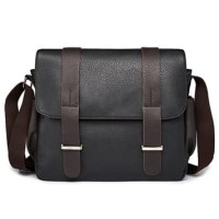 Tas Selempang Pria Bahan Kulit Leather Messenger Bag