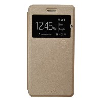 Smile Flip Cover Samsung Galaxy J7 Duos - Gold