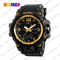 Jam Tangan Pria Digital SKMEI 1155B Gold Water Resistant 50M