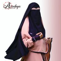 Cadar Niqab Purdah yaman cet eyes Jetblack Original