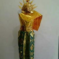 Pakaian adat bali & mahkota SMP // baju adat bali legong Cwe