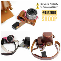 Premium Leather case Sony A5100 A5000 Alpha 5100 Alpha 5000