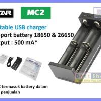 MC2 by XTAR DUAL Slot Output 500 mA Vape Charger (terlaris)