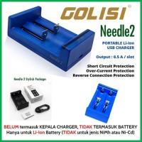 NEEDLE 2 by GOLISI N2 DUAL Slot Output 500 mA Vape Charger (terlaris)