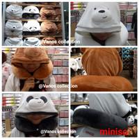 Miniso We Bear Bears U shape pillow with Hood Bantal Leher Hodie