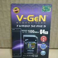 Original MicroSD V-Gen VGen 64GB Turbo Series Class 10