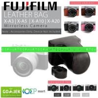 Leather Case Fujifilm X-A3 X-A2 X-A10 Bag Tas Kamera XA3 XA2 XA10 Fuji - Cokelat