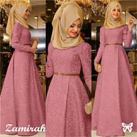 Hijab Maxi Zamirah 3in1 Pink