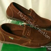 Sepatu GATS Kulit Casual Pria Keren Original Murah Bagus Hk 0002 Brown