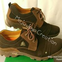 Sepatu GATS Kulit Casual Pria Keren Original Murah PR 7101 BROWN