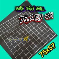 Ukuran 75x57 kawat ram dinding wire grid wall aksesoris polaroid notes