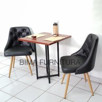 Kafe Set - Grace Cafe Table (60 X 60 X 75) + Val's Chairs (2 Units)