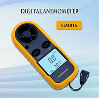 Digital Anemometer Thermometer alat ukur / Pengukur Kecepatan Angin