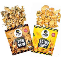 IRVINS - FISH SKIN SALTED EGG/ POTATOE CHIP 105gram - TERMURAH