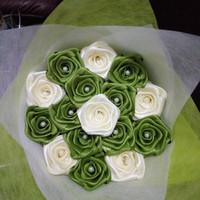 buket bunga satin handmade mawar mini hadiah wisuda ultah valentine