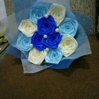 buket bunga satin handmade hadiah valentine wisuda sidang ultah