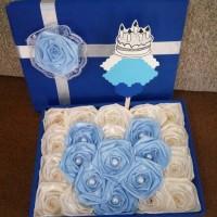 bunga box satin handmade hadiah valentine anniv ultah
