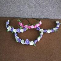 flower crown mahkota bunga handmade satin
