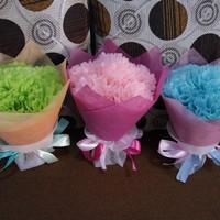 buket bunga pom pom hadiah wisuda sidang valentine anniv