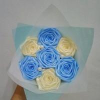 buket bunga satin handmade murah hadiah wisuda valentine