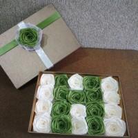 bunga satin/ bunga hadiah kado murah/ handmade/ bunga box/ bunga huruf