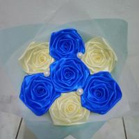 buket bunga satin hadiah valentine wisuda sidang ultah handmade