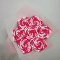 buket bunga satin mix warna hadiah wisuda valentine ultah handmade